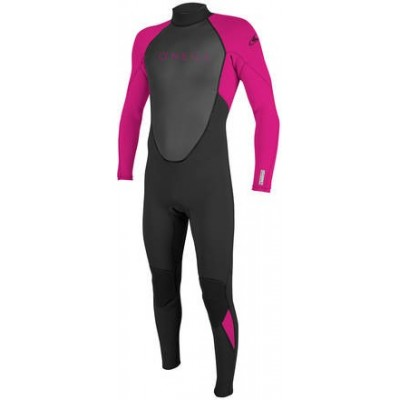 O'NEILL - REACTOR 3/2mm Back Zip Full Wetsuit Youth PINK