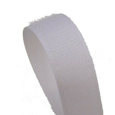 VELCRO - TO SEW WHITE 25MM HOOK - BY METER