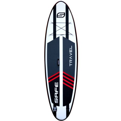 """SAFE - INFLATABLE SUP BOARD travel 9'6"""" + LEASH + PADDLE"""